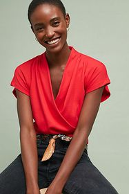 Anthropologie Wakefield Wrapped Top