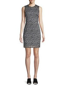 MICHAEL Michael Kors Printed Sheath Dress WHITE BL