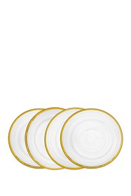 Godinger Alabaster Salad Plate - Set of 4