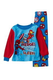 AME Avengers Heroes Never Sleep Fleece Pajama Set