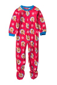 AME Rudolph Fleece Footie Sleeper (Toddler)