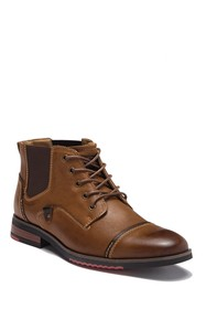 Steve Madden Murdock Leather Cap Toe Lace Boot
