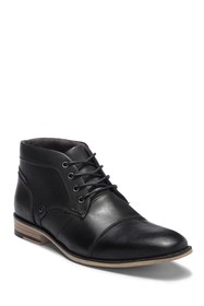 Steve Madden Kodak Cap Toe Leather Boot