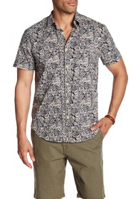 Lucky Brand Ballona Floral Short Sleeve Regular Fi