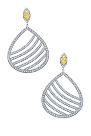 LaFonn Micro Pave Canary & White Simulated Diamond