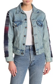 Levi's Embroidered Sleeve Boyfriend Trucker Jacket