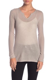 Inhabit Cashmere Split Neck Sweater