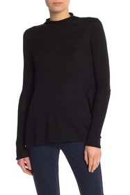 NYDJ Solid Funnel Neck Sweater