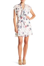 Haute Hippie Floral Neck Tie Dress