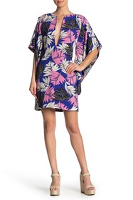 Meghan LA Printed Split Neck Tunic