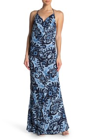 Meghan LA Reversible Print Maxi Dress
