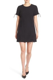 Kendall & Kylie Lace-Up Short Sleeve Dress