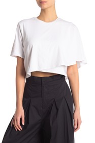 Kendall & Kylie Draped Crop Tee