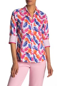 FOXCROFT Mary Layered Palms Wrinkle Free Shirt (Re