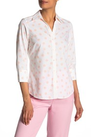 FOXCROFT Mary 3/4 Length Sleeve Shell Print Shirt