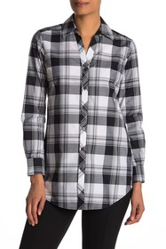 FOXCROFT Faith Plaid Print Shirt