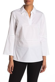 FOXCROFT Jasmine Bell Sleeve Stretch Shirt