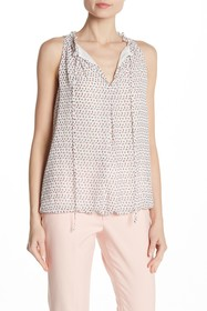 Max Studio Sleeveless Bubble Hem Blouse