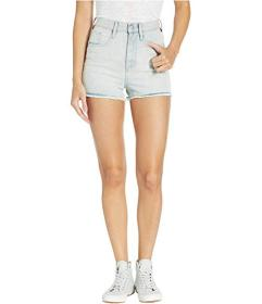 Juicy Couture Denim Shorts with Stripe Embroidery
