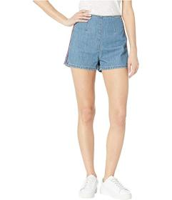 Juicy Couture Denim Multicolor Embroidered Shorts