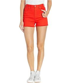 Juicy Couture Red Denim Shorts with Side Stripe