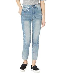 Juicy Couture Floral Embroidered Girlfriend Jeans