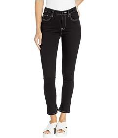 Juicy Couture Black Denim Skinny Jeans w/ Embroide