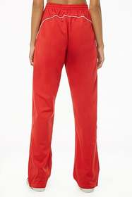 Forever21 Piped-Trim Track Pants
