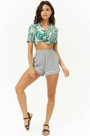 Forever21 Piped-Trim Shorts