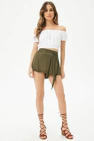 Forever21 Self-Tie Ruffle Shorts