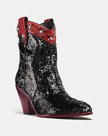 Coach western bootie with sequins