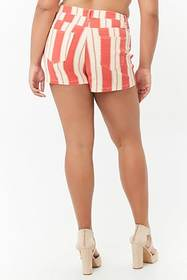 Forever21 Plus Size Striped Denim Shorts