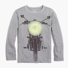 J. Crew Boys' long-sleeve motorcycle glow-in-the-d