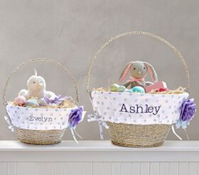 Pottery Barn Glitter Dot Easter Basket Liners