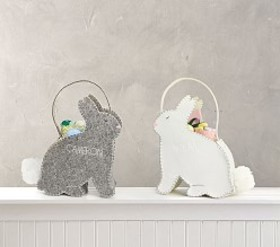 Pottery Barn Felt Bunny Easter Buckets