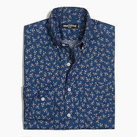 J. Crew Flex washed shirt in print