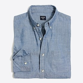 J. Crew Flex chambray shirt in classic wash