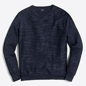 J. Crew Textured cotton crewneck sweater