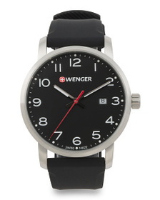 WENGER Men's Swiss Made Avenue Silicone Strap Watc