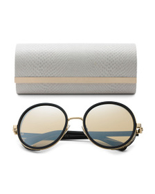 JIMMY CHOO Made In Italy Luxury Sunglasses With Ca