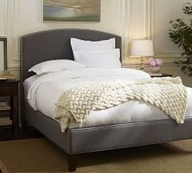 Pottery Barn Fillmore Curved Upholstered Tall Bed