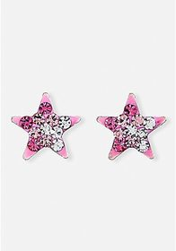 Justice Ombre Crystal Star Sterling Silver Stud Ea