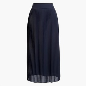 J. Crew Factory factory womens Pleated midi skirt