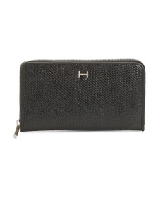HALSTON Madeline Textured Zip Around Wallet