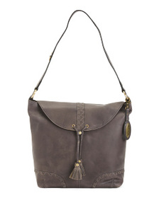 BORN Leather Distressed Oatfort Hobo