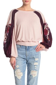 Free People Casual Clash Top