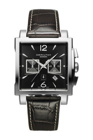 Hamilton Men's Jazzmaster Square Embossed Leather