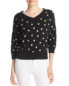 kate spade new york - Heartbeat Patterned Sweater