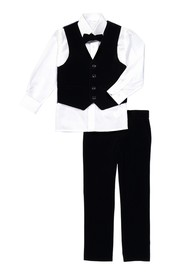 Isaac Mizrahi 4-Piece Velvet Vest Set (Toddler)