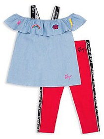 Betsey Johnson Little Girl's 2-Piece Chambray Top